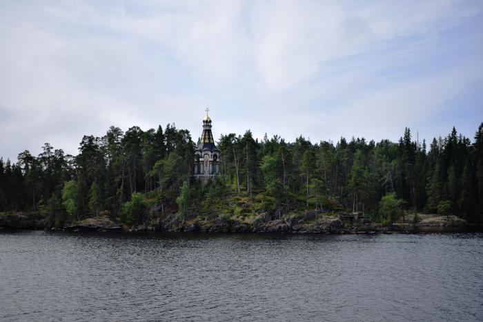 Скит на одном из островов